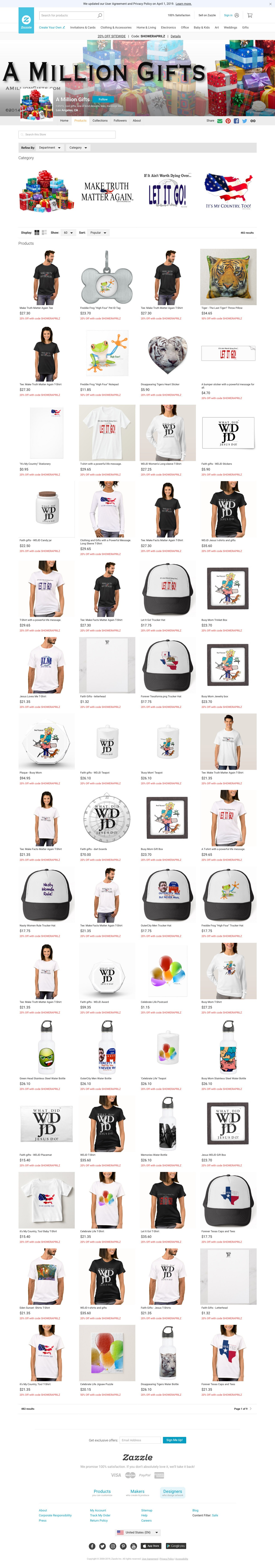 A Million Gifts Products on Zazzle